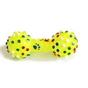 משקולת מצפצפת צעצוע לכלב