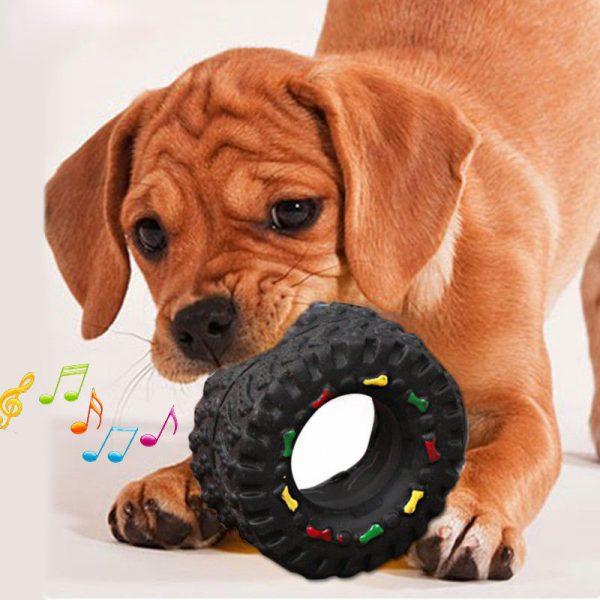 צעצוע לכלב צמיג מצפצף