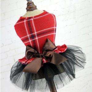 שמלה אדומה לכלבות קטנות
