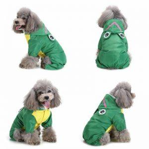 מעיל גשם לכלב בצבע ירוק