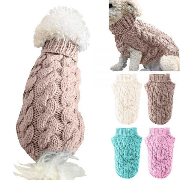סוודר סרוג לכלבים