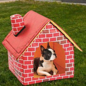 מיטה בצורת בית לכלב