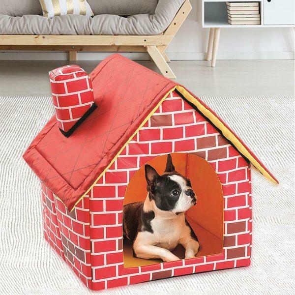 מיטה בצורת בית לכלב קטן