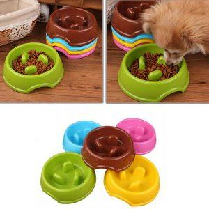 קערה לאכילה איטית לכלב
