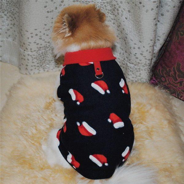 ז'קט מחמם לכלב קטן Chrismas hat