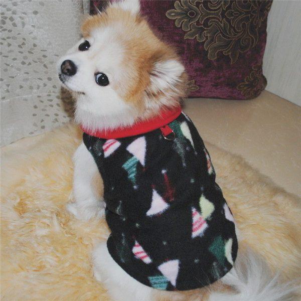 ז'קט מחמם לכלב קטן Christmas tree